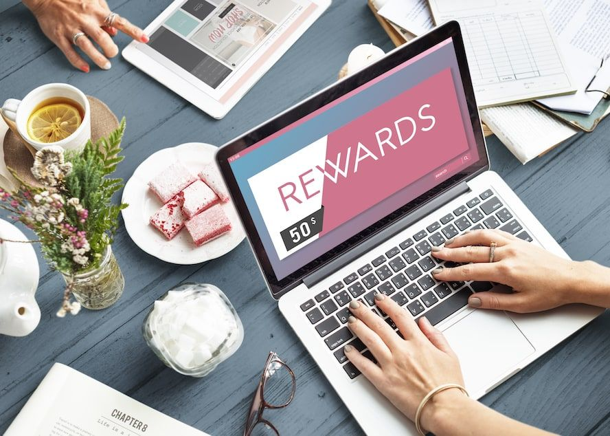 Using a gift card for rewards