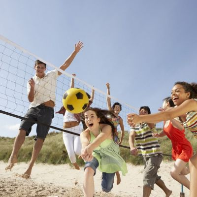 Volleyball & badminton set rental