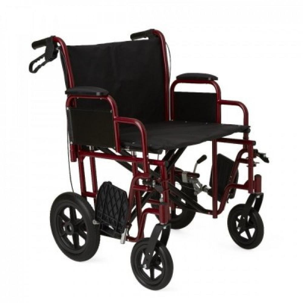 Extrawide transport wheelchair