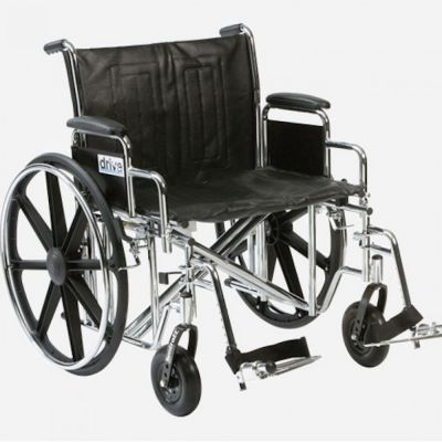 Extra wide standard wheelchair