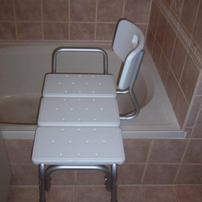 Shower stool transfer bench