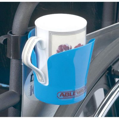 Wheelchair cup holder